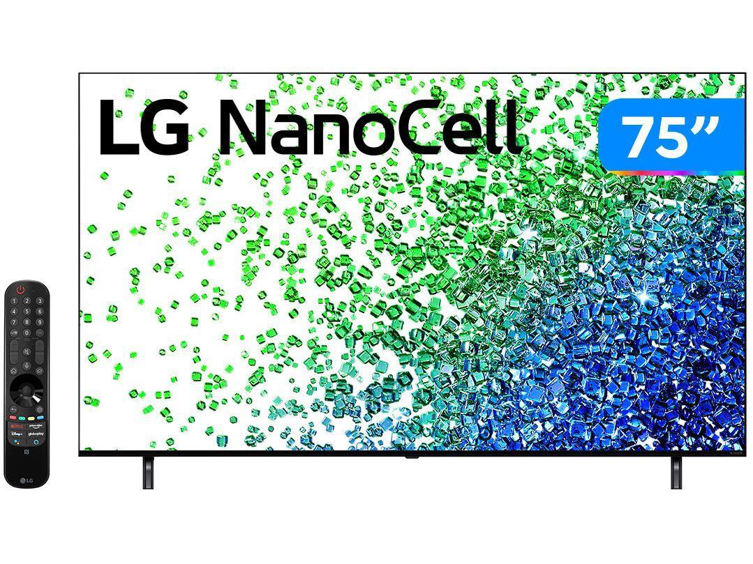 "Smart TV 75"" 4K UHD Nanocell LG 75NANO80SPA - 60Hz Wi-Fi e Bluetooth Alexa 4 HDMI 2 USB"