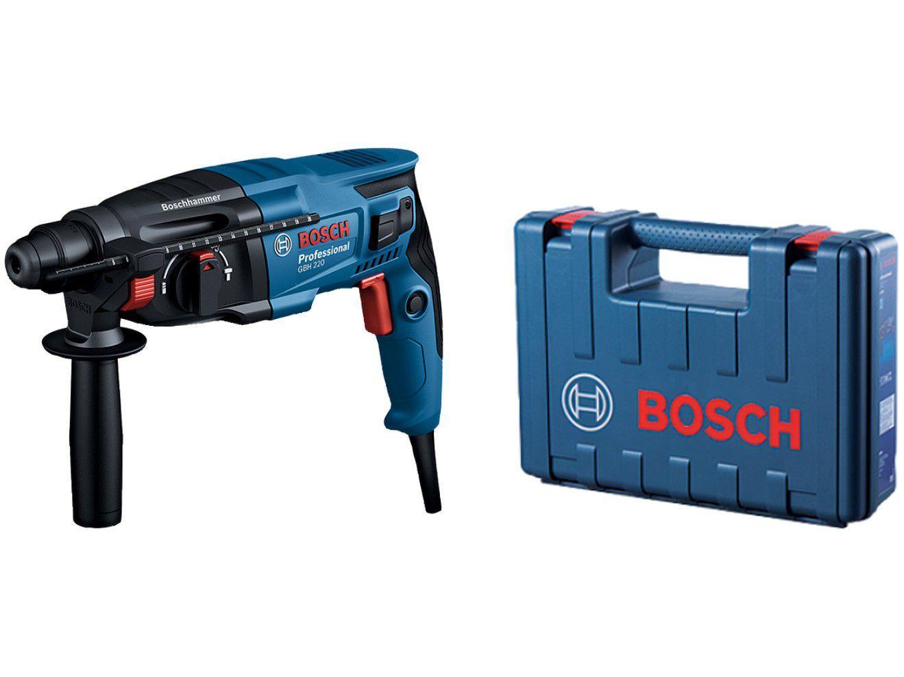 Martelete Bosch Perfurador 720W GBH 220 - com Maleta