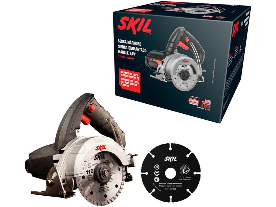 Serra Mármore Elétrica Skil 9815 110mm - 1200W 1 Velocidade