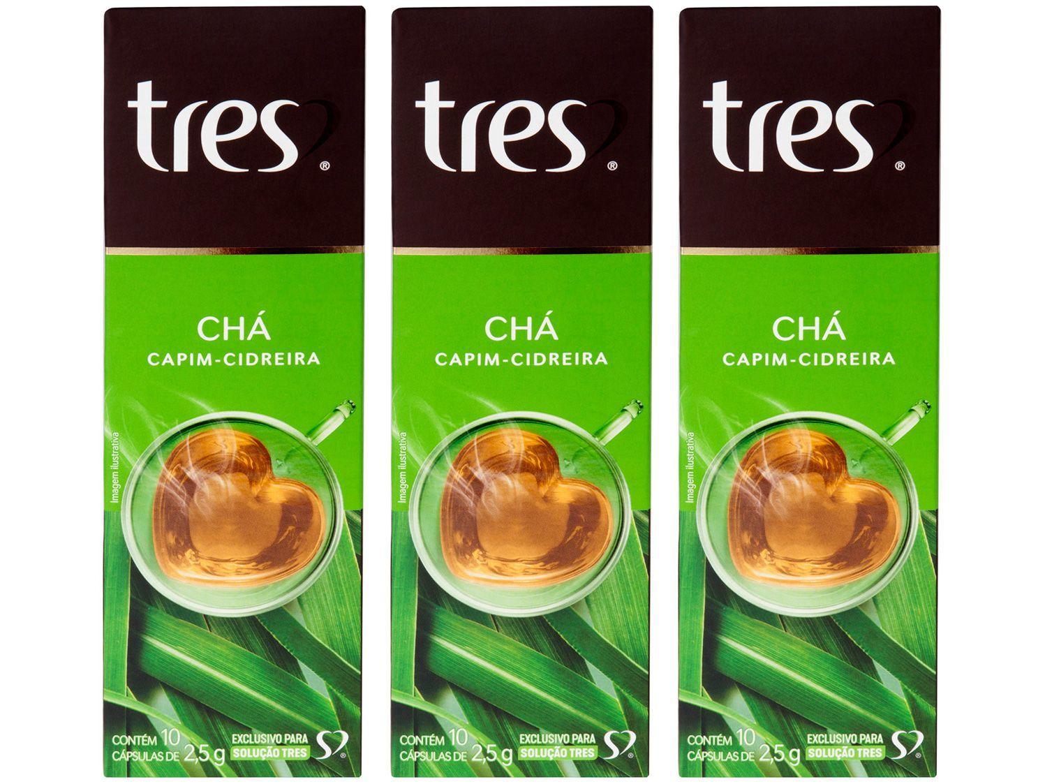 Cápsula de Café 3 Corações Capim Cidreira TRES - 30 unidades