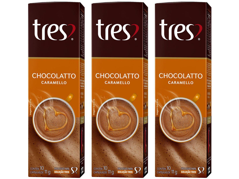 Cápsula de Café 3 Corações Chocolatto Caramello - 30 Unidades