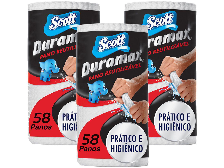 Pano de Limpeza Scott Duramax Reutilizável - 3 Pacotes com 58 Unidades Cada