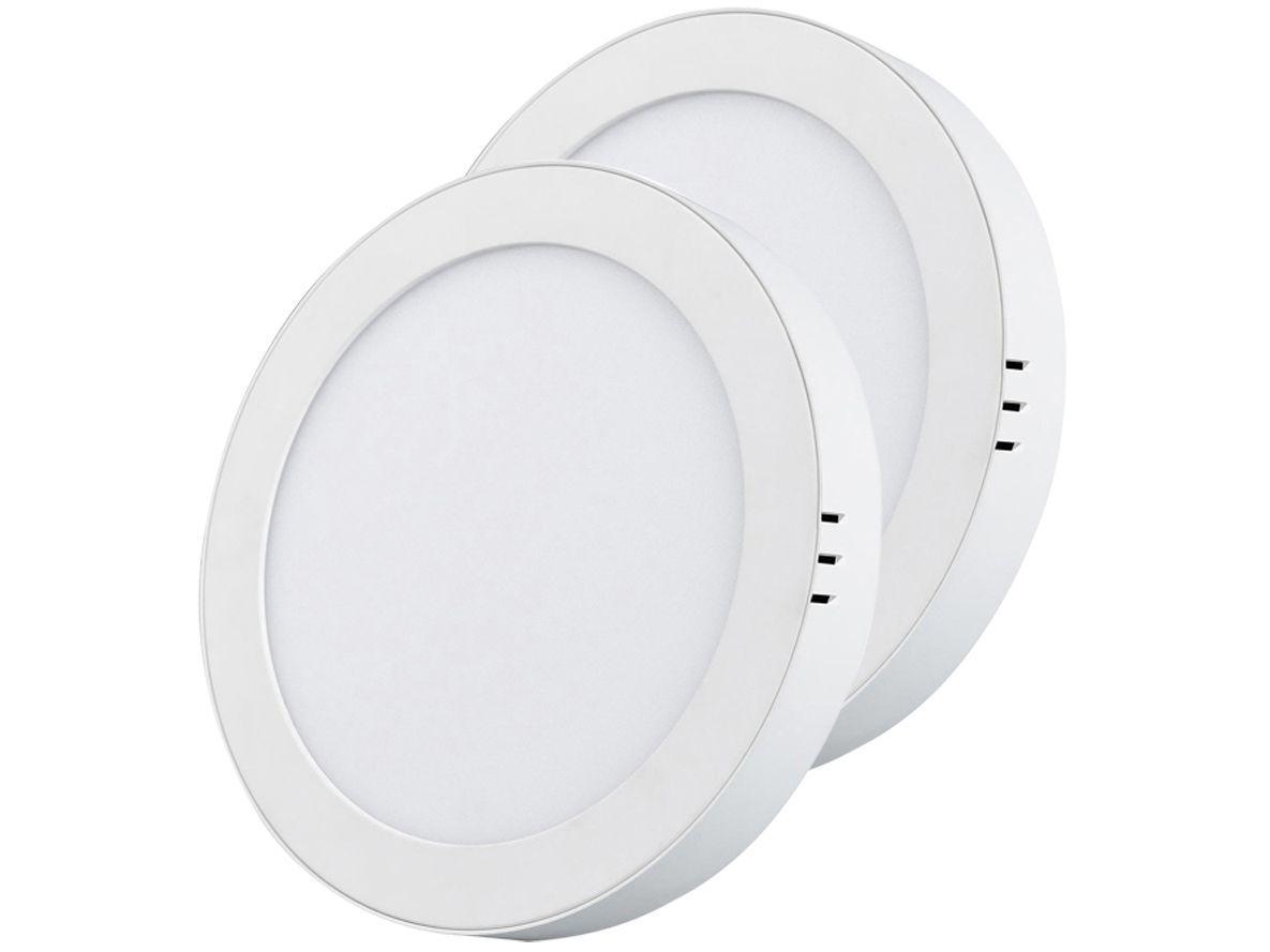 Kit Painel LED de Embutir 2 Unidades Redondo 18W - 6500K Black + Decker BDPD-1300-02