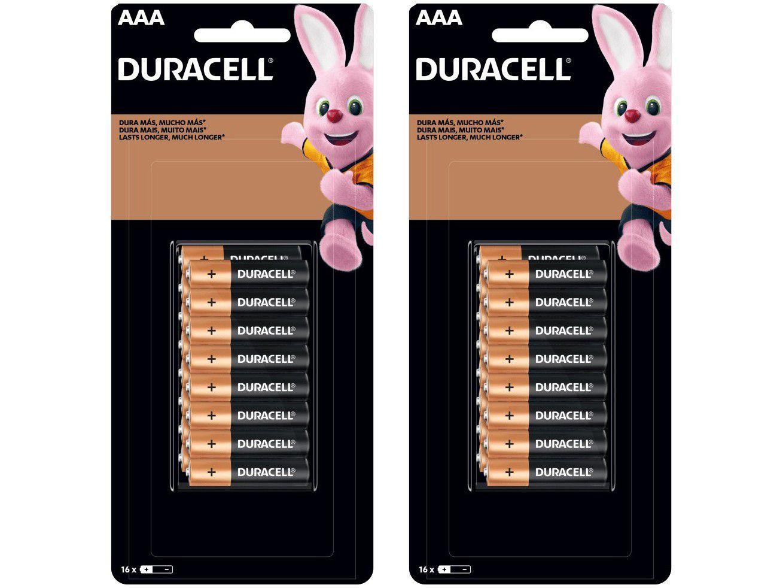 Kit de Pilha AAA Palito Alcalina 32 Unidades - Duracell