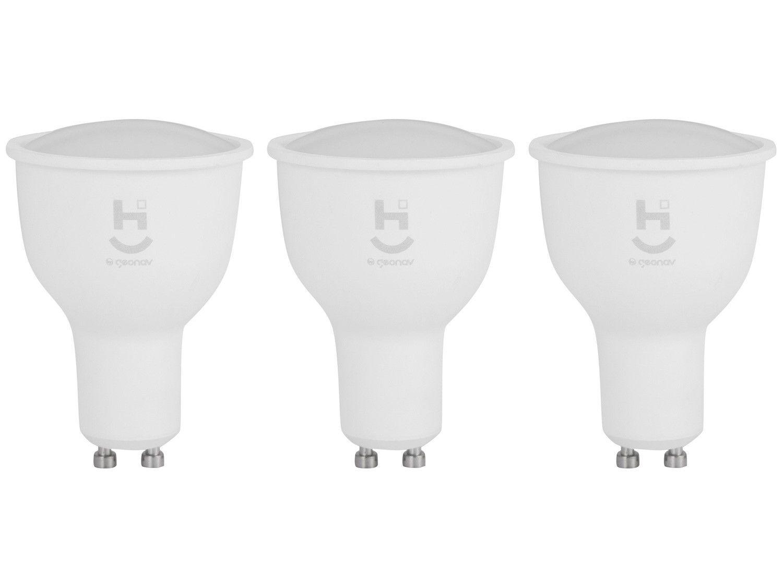 Kit com 3 Lâmpadas Inteligentes Geonav - Home Intelligence LED Wi-Fi 5W