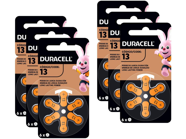 Kit com 36 Unidades de Pilha Auditiva 13 - Duracell