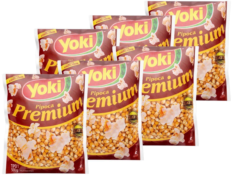 Milho de Pipoca Yoki Premium 500g 6 Unidades