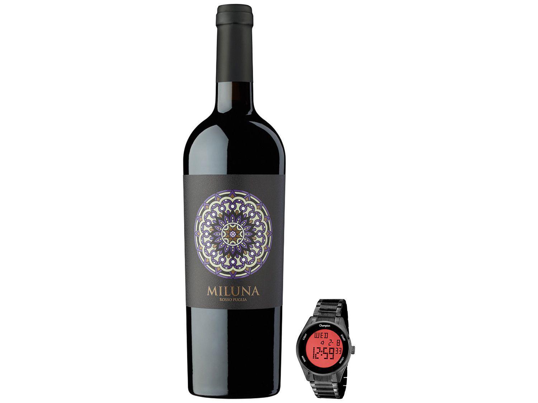 Relógio Unissex Champion Digital + Vinho Tinto - Seco San Marzano Miluna Rosso Puglia