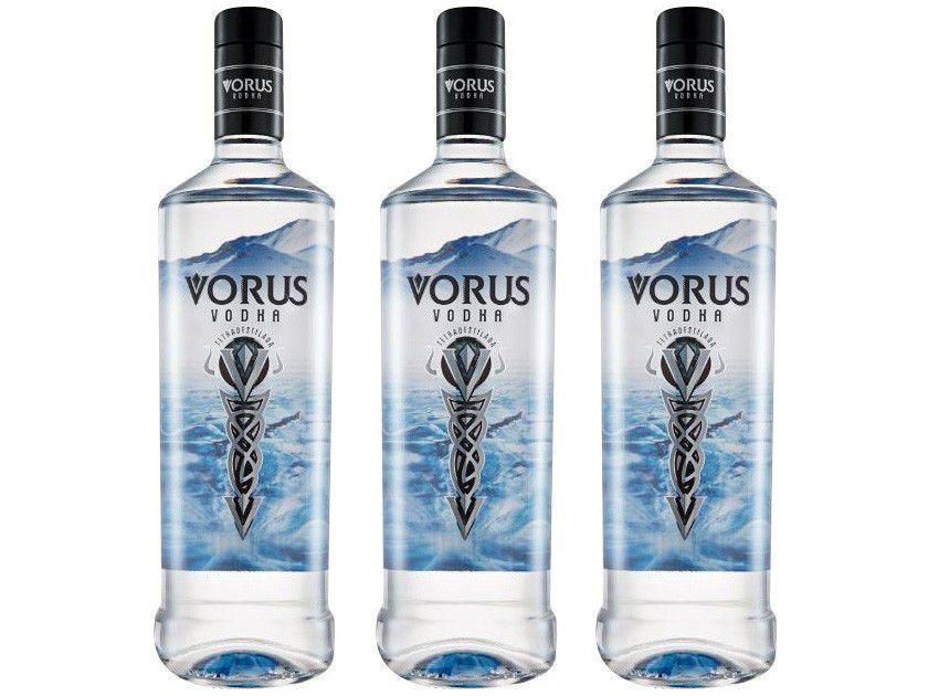 Vodka Salton Vorus 1L - 3 Unidades