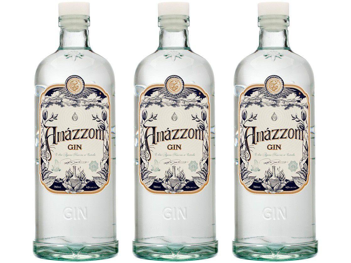 Gin Amázzoni Tradicional 750ml 3 Unidades