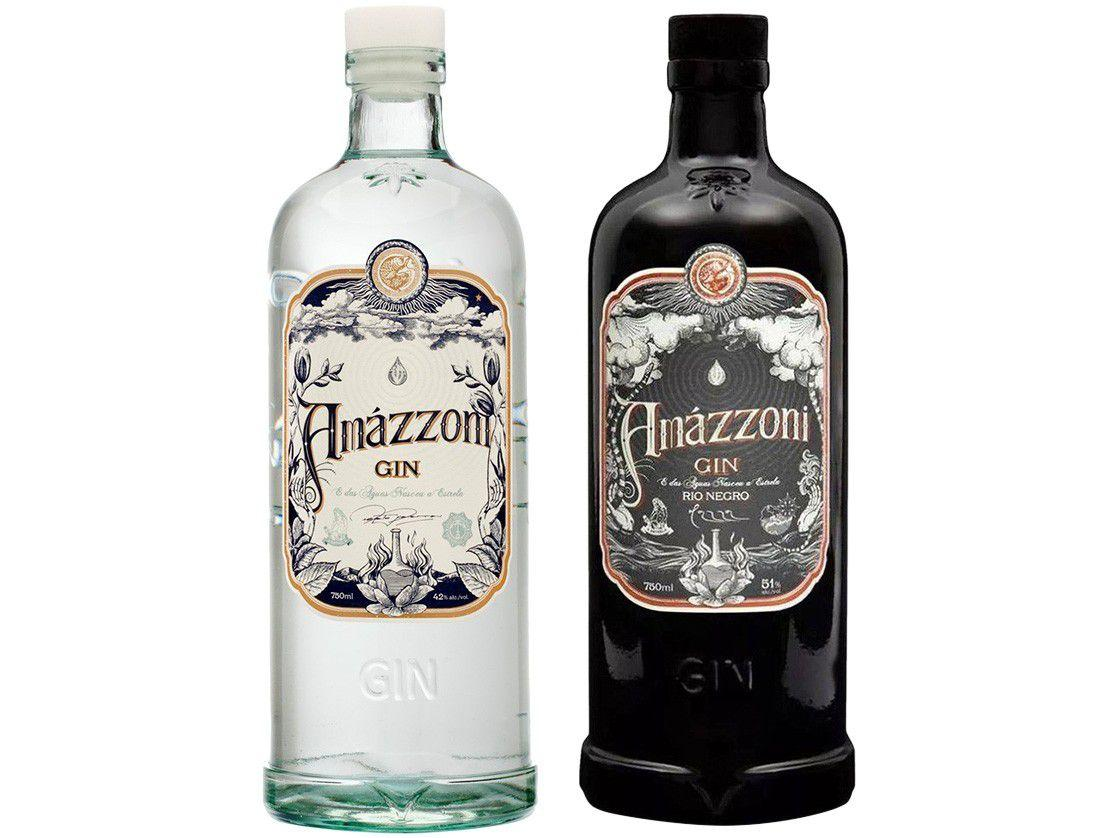 Gin Amázzoni Tradicional 750ml + Gin Amázzoni - Rio Negro 750ml 2 Unidades