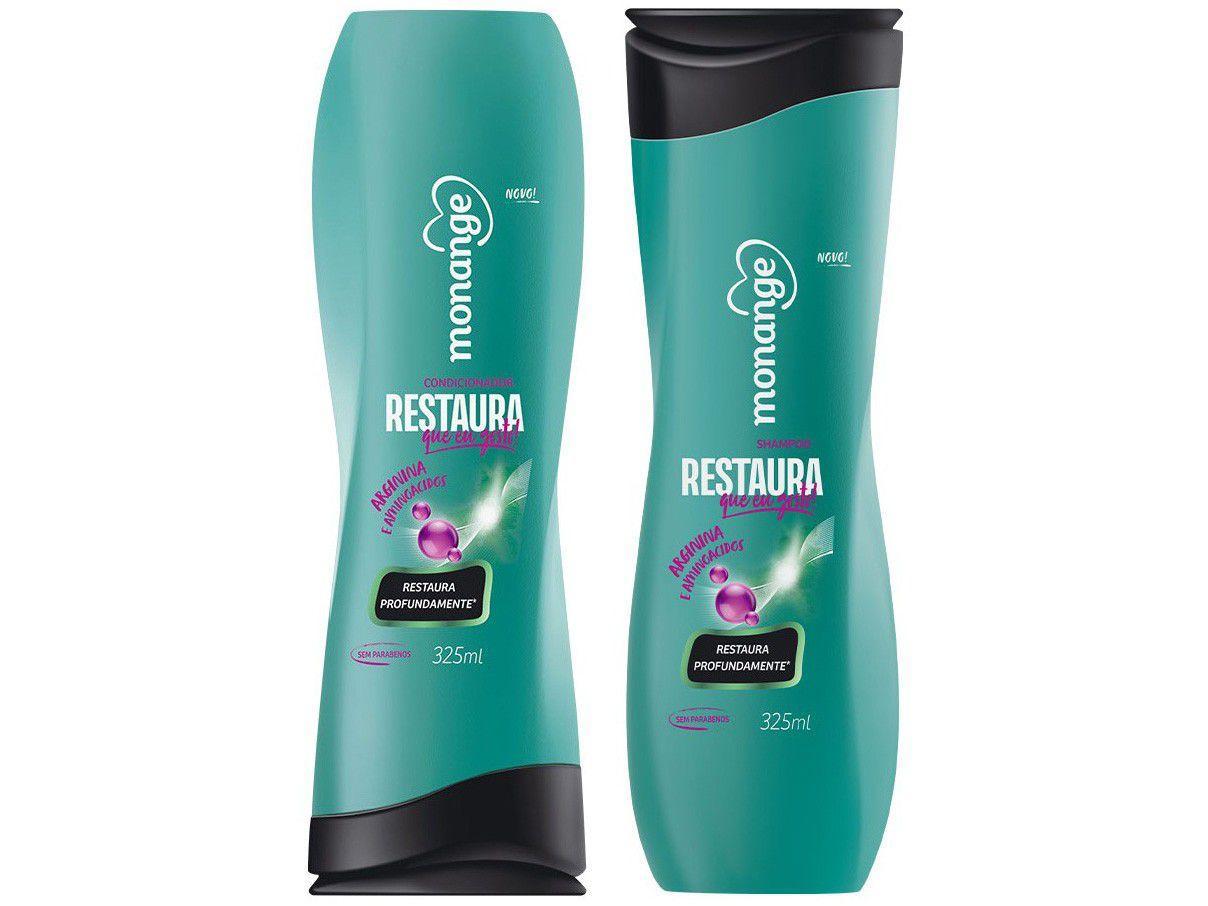 Kit Shampoo e Condicionador Monange - Restaura que Eu Gosto!
