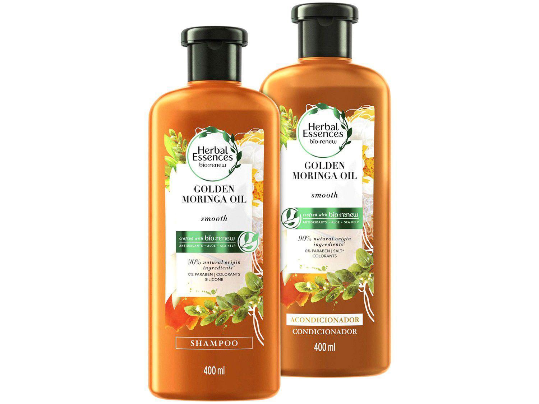 Kit Shampoo e Condicionador Herbal Essences - Óleo de Moringa 400ml