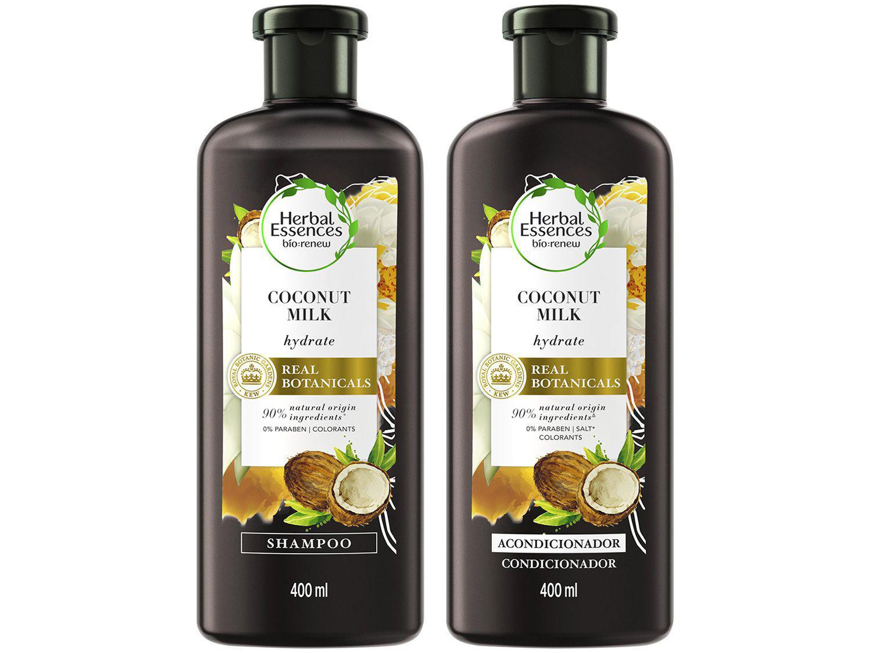 Kit Shampoo e Condicionador Herbal Essences - Leite de Coco 400ml