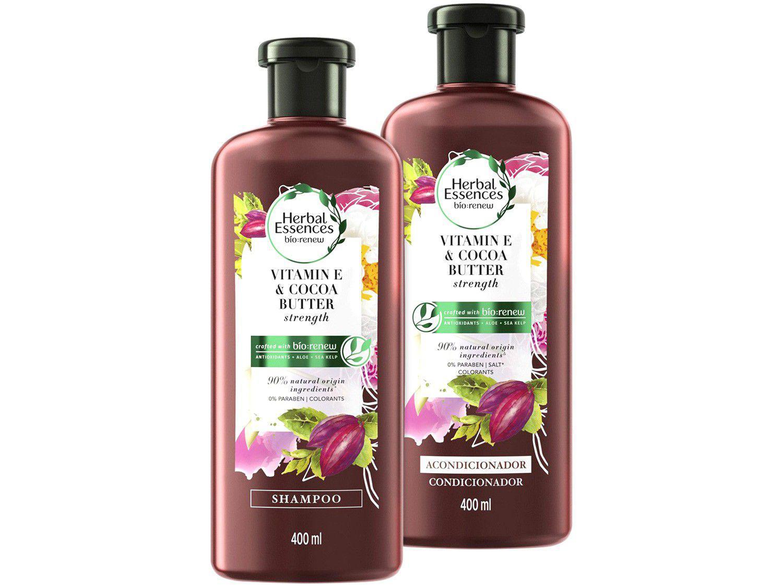 Kit Shampoo e Condicionador Herbal Essences - Vitamina E e Manteiga de Cacau 400ml