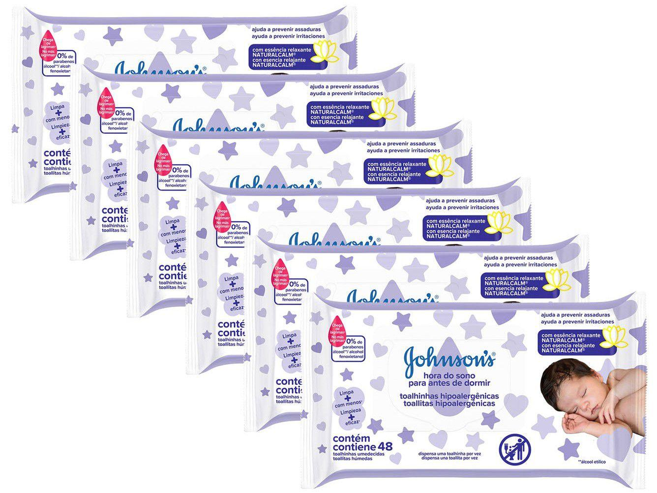 Kit Lenço Umedecido Johnsons Baby Hora do Sono - 288 Unidades
