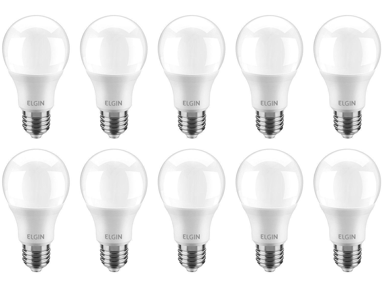 Kit Lâmpadas LED 10 Unidades Branca E27 4,9W - 6500K Elgin Bulbo A55