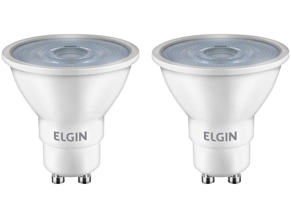 Kit Lâmpadas LED 2 Unidades Amarela GU10 4,8W - 2700K Elgin Dicroica