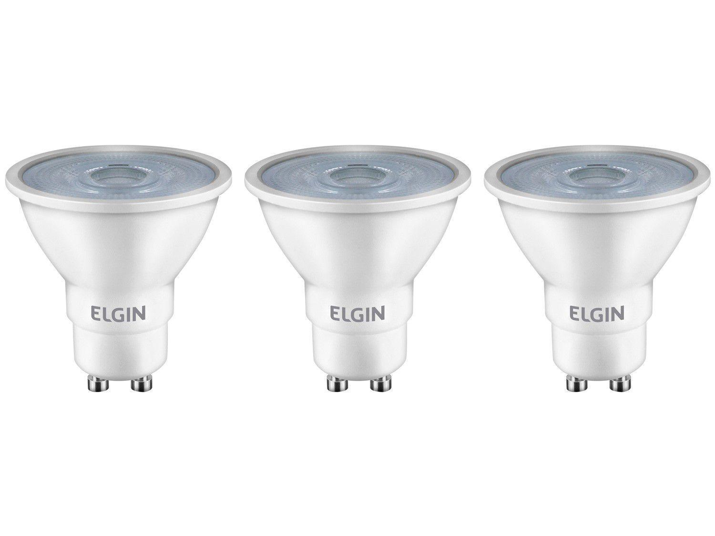 Kit Lâmpadas de LED 3 Unidades Amarela GU10 4,8W - 2700K Elgin Dicroica