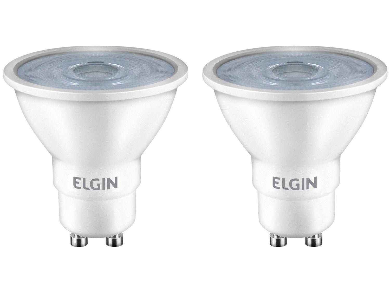 Kit Lâmpadas de LED 2 Unidades Brancas GU10 4,8W - 6500K Elgin Dicroica