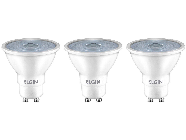 Kit Lâmpadas de LED 3 Unidades Branca GU10 6W - 6500K Elgin Dicroica