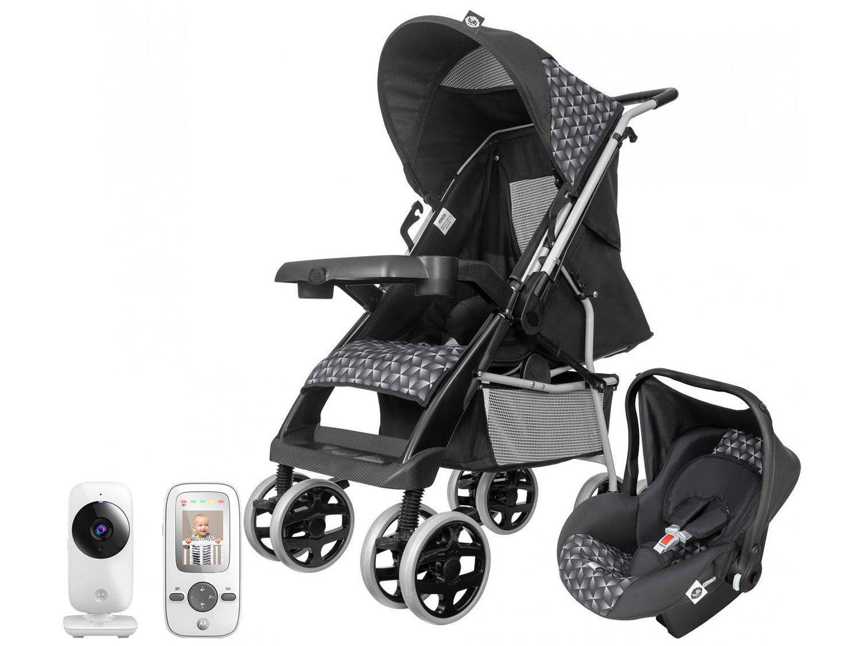 Babá Eletrônica Motorola MBP481 com Câmera - Visão Noturna + Carrinho de Bebê com Bebê Conforto