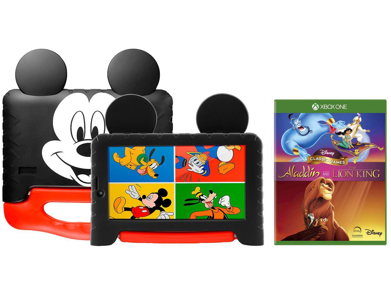 "Tablet Infantil Multilaser Mickey Plus com Capa - 16GB 7"" Wi-Fi Android 8.1 + Disney Classic Ga"