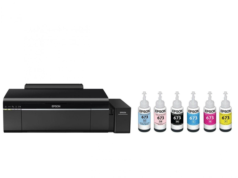 Impressora Epson EcoTank L805 Jato de Tinta Wi-Fi - Colorida USB + 6 Garrafas de Tinta