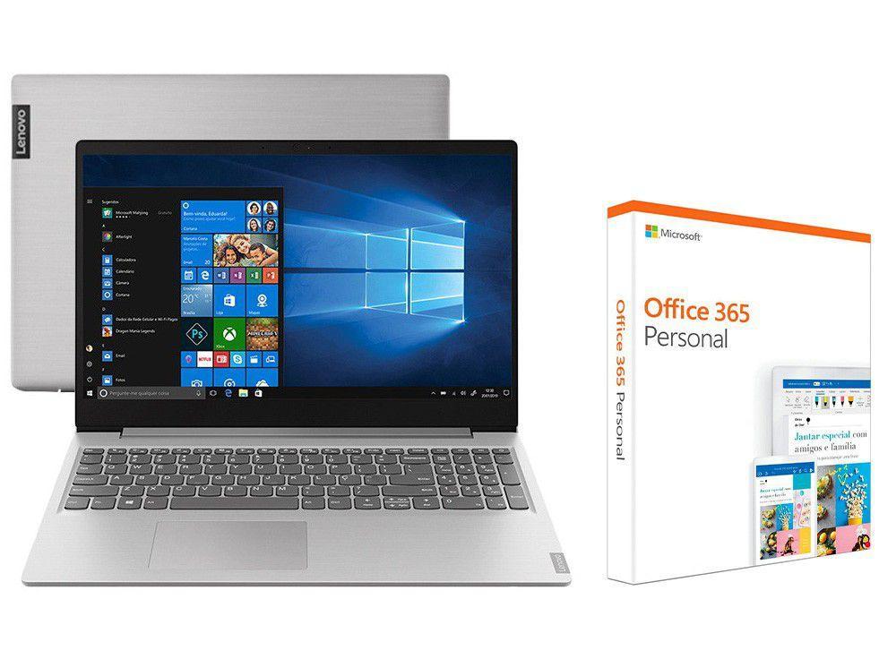 "Notebook Lenovo Ideapad S145 81V70008BR AMD Ryzen - 5-3500U 8GB 256GB SSD 15,6"" + Office 365 Personal"