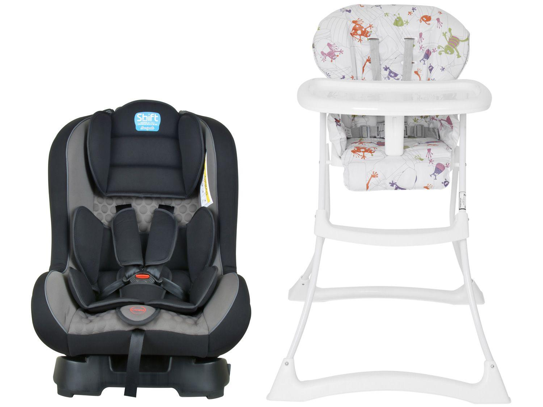 Cadeira de Alimentação Burigotto Papa & Soneca - Reclinável + Cadeirinha para Auto Reclinável
