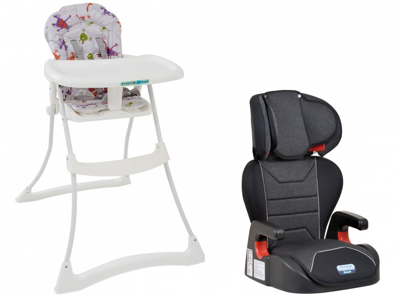 Cadeirinha para Auto Burigotto Reclinável - 2 Posições Protege + Cadeira de Alimentação