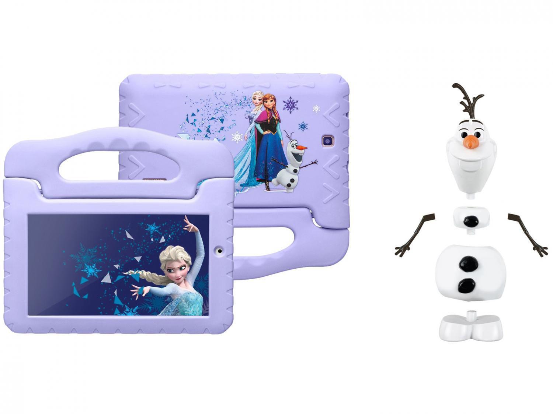 """Tablet Infantil Multilaser Frozen Plus com Capa - 16GB 7"""" Wi-Fi Android 8.1 Quad Core + Boneco"""