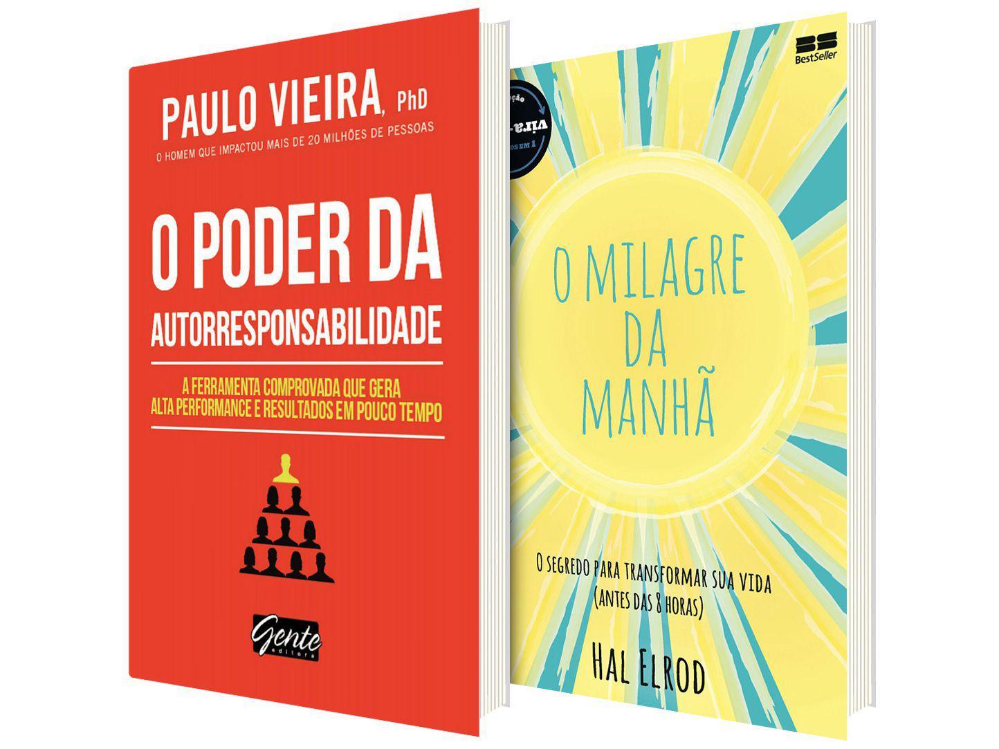 Kit Livros O Milagre da Manhã + O Poder da - Autorresponsabilidade