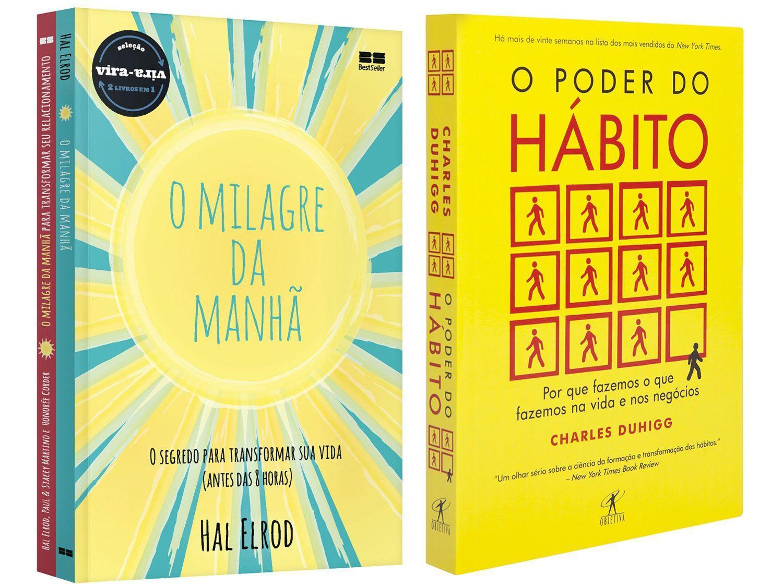 Kit Livros Milagre da Manhã & Milagre da Manhã - Relacionamentos + O Poder do Hábito