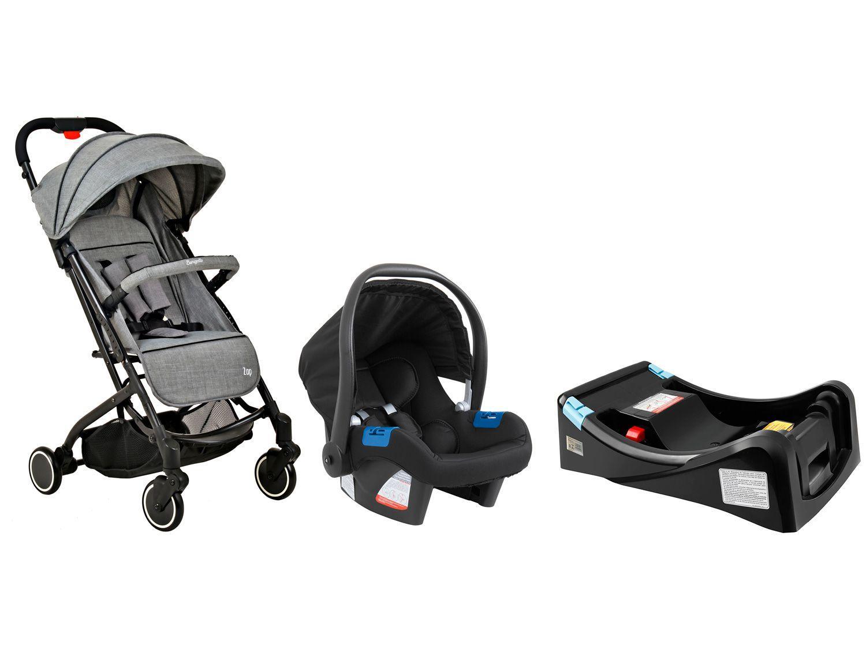Carrinho de Bebê Burigotto Zap - 0 a 15kg + Bebê Conforto + Base para Bebê Conforto