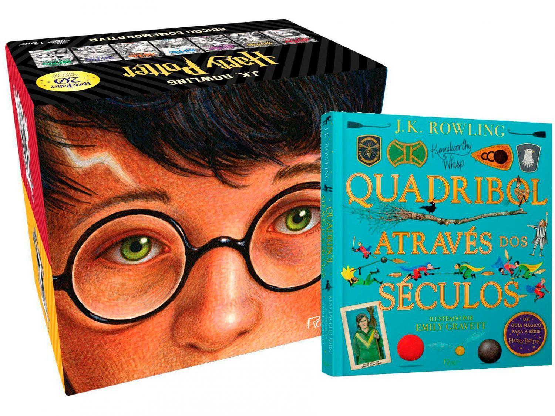 Kit Livros Harry Potter Box Edição Comemorativa - 20 Anos + Quadribol Através dos Séculos