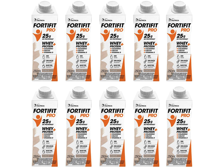Bebida Láctea Fortifit Pro Coco Zero Açúcar - 250ml 10 Unidades
