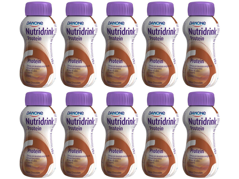 Suplemento Alimentar Adulto Nutridrink Protein - Chocolate 200ml 10 Unidades