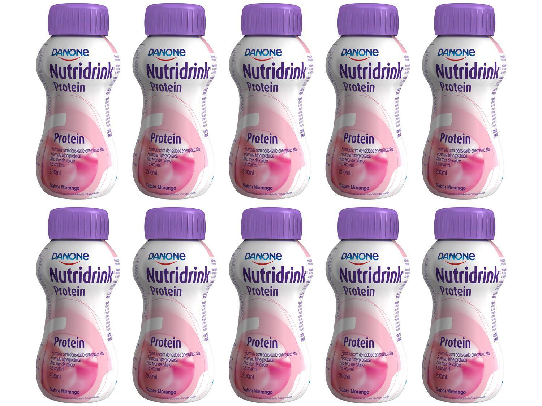 Suplemento Alimentar Adulto Nutridrink Protein - Morango 200ml 10 Unidades