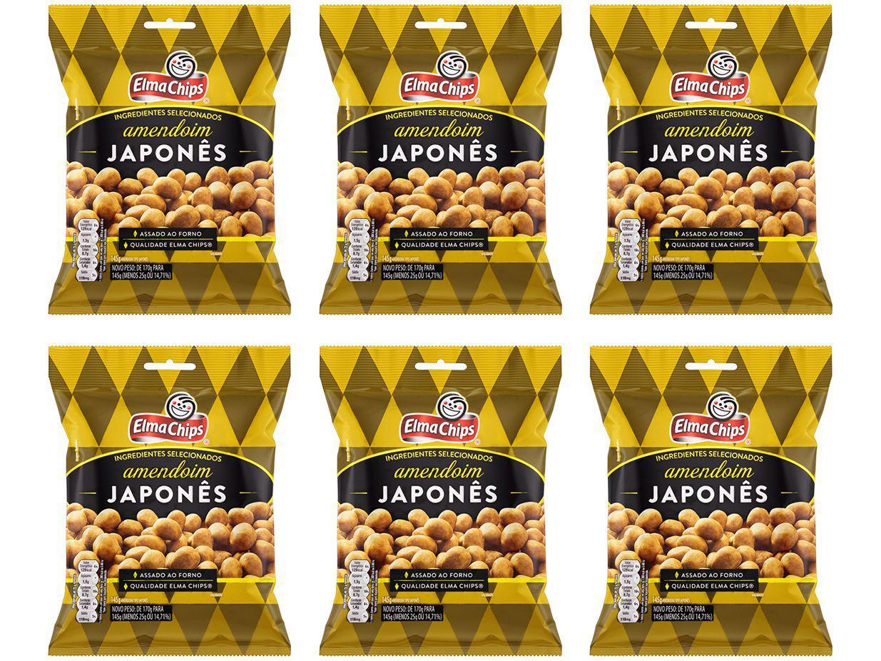 Amendoim Japonês Elma Chips 145g - 6 Unidades