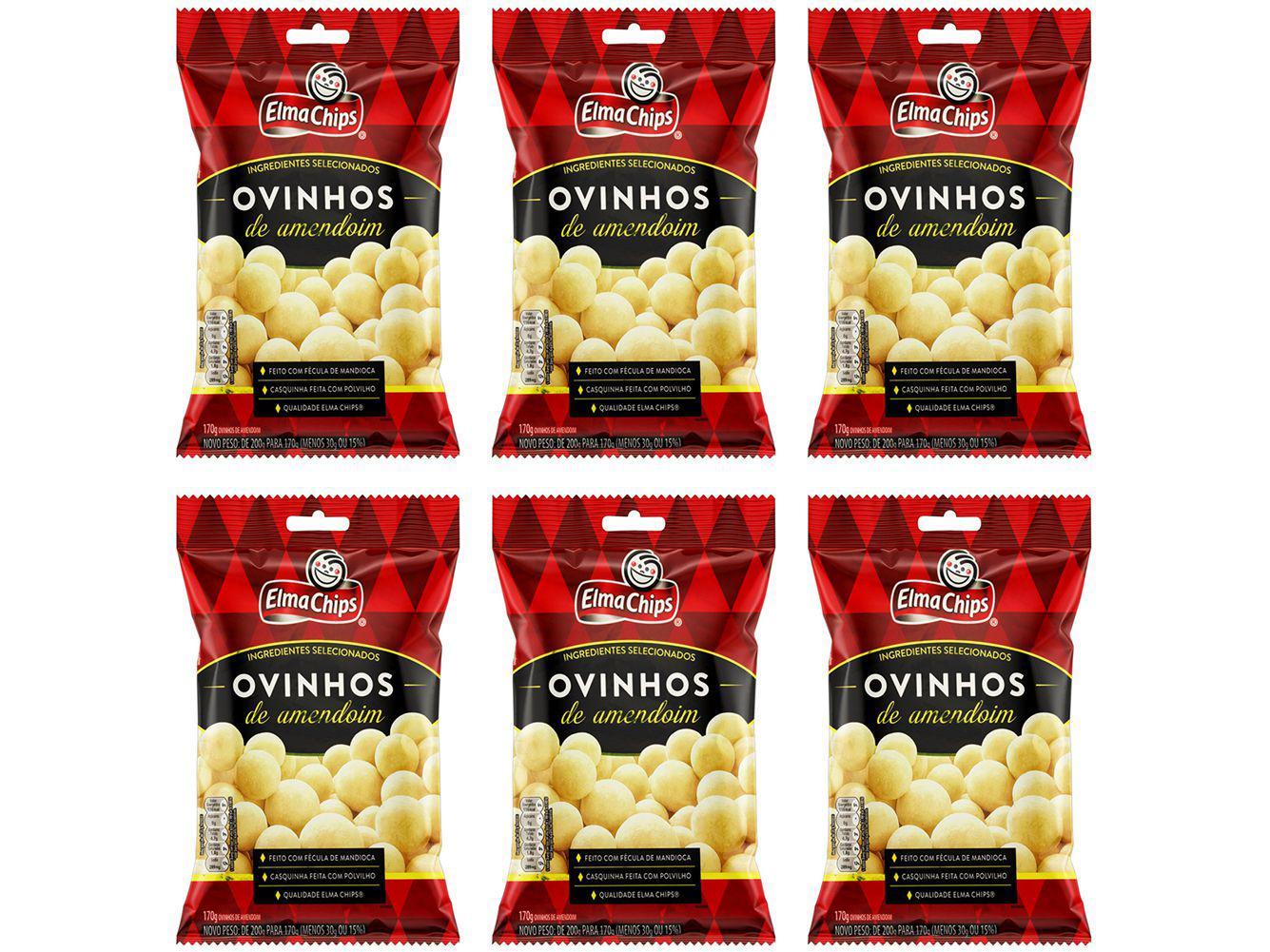 Amendoim Ovinhos Elma Chips 170g - 6 Unidades