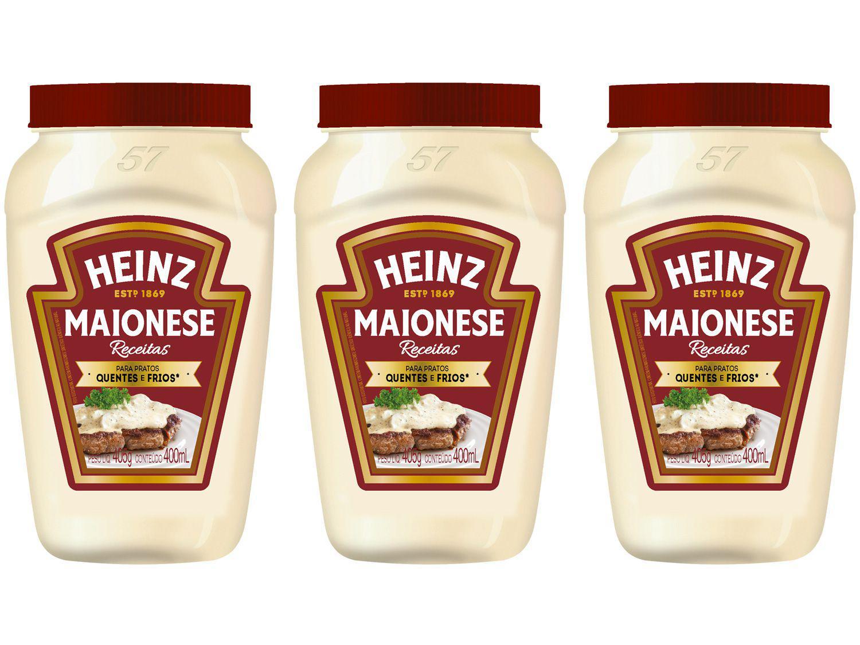 Kit Maionese Tradicional Heinz Receitas 405g - 3 Unidades