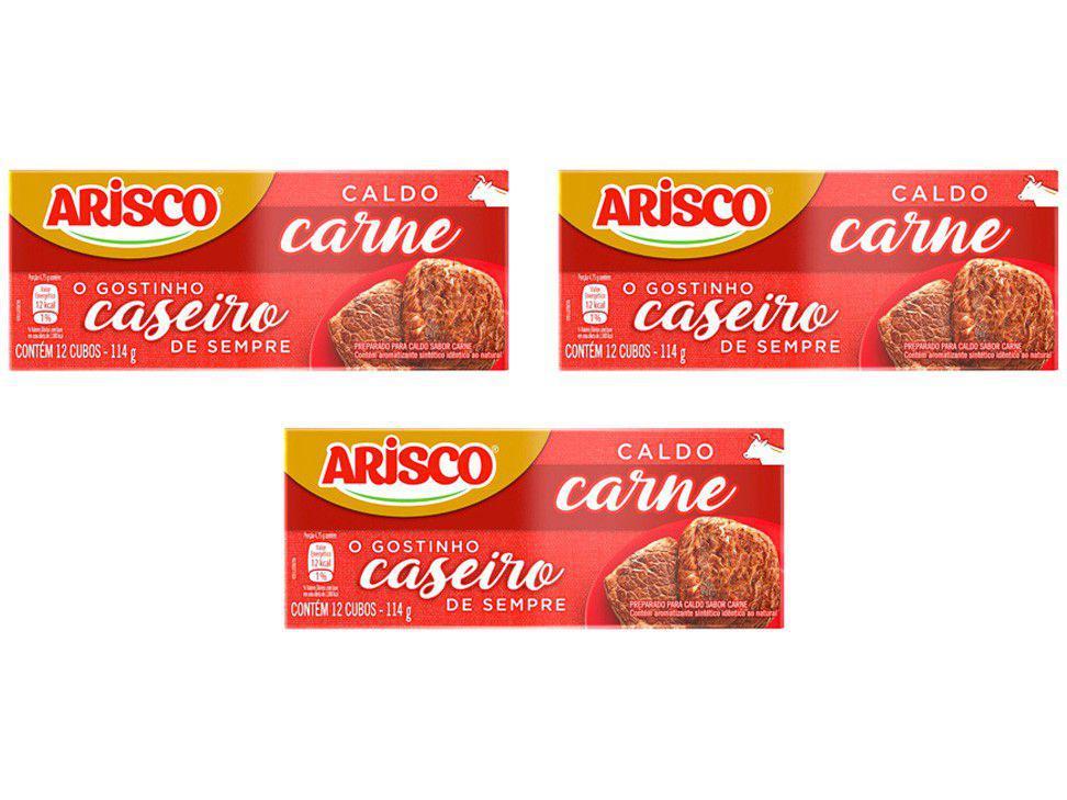 Kit Caldo Carne Arisco 114g 3 Unidades