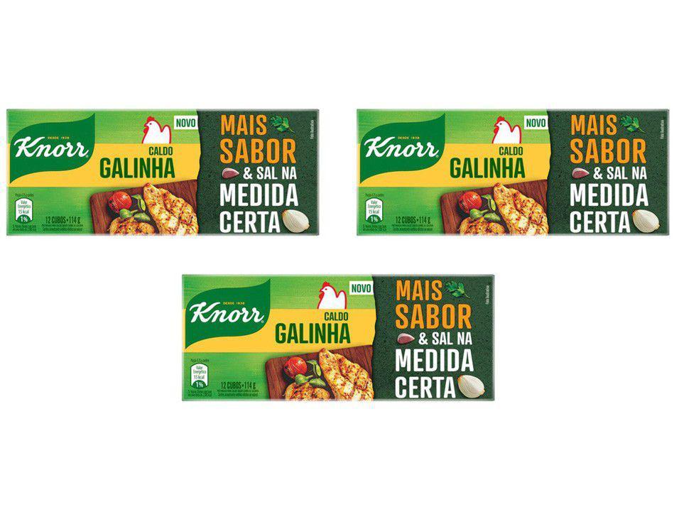 Kit Caldo Galinha Knorr 114g - 3 Unidades