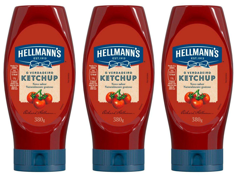Kit Ketchup Tradicional Hellmanns 380g 3 Unidades