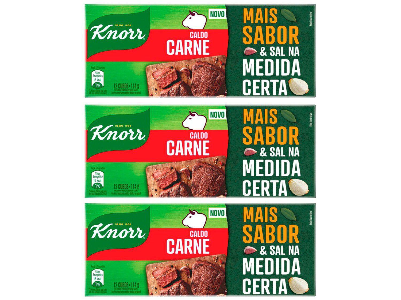 Kit Caldo Carne Knorr 3 Unidades 114g Cada
