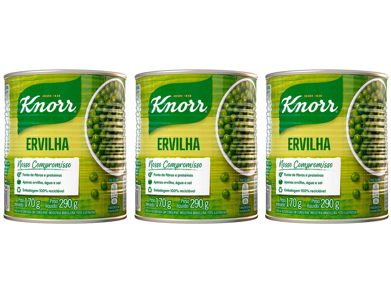 Kit Ervilha em Conserva Knorr 3 Unidades 170g Cada