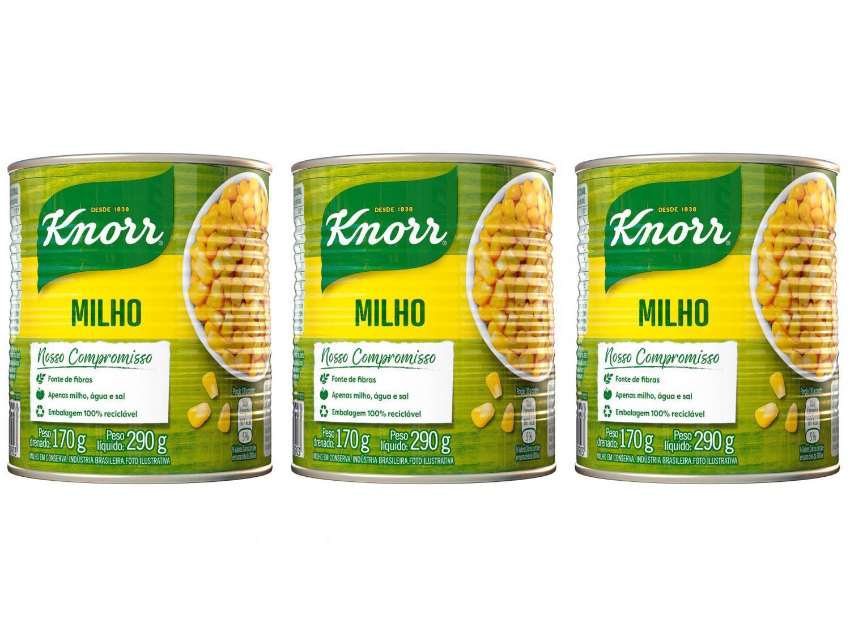 Kit Milho em Conserva Knorr 170g - 3 Unidades
