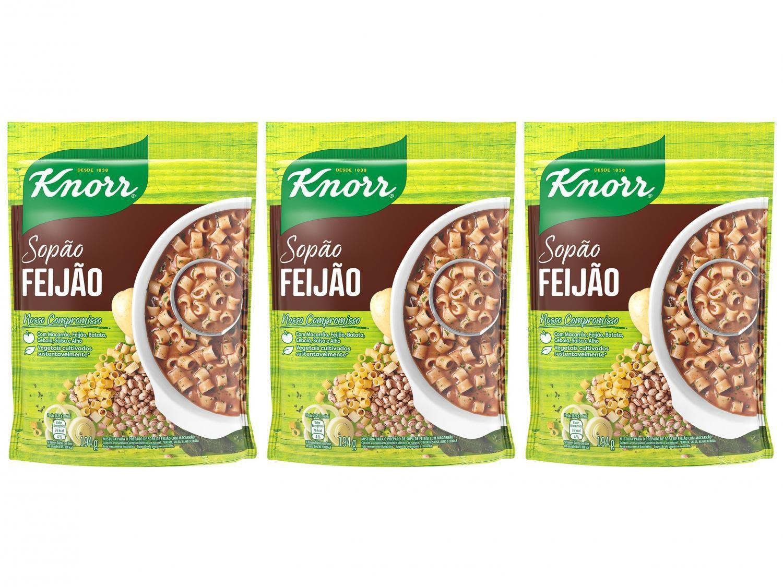 Kit Sopão Instantânea Feijão Knorr 194g - 3 Unidades