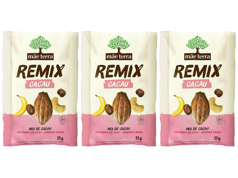 Kit Mix de Cacau Mãe Terra Remix 3 Unidades - 25g Cada